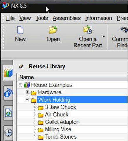 Creating a Reuse Library in NX 8.5