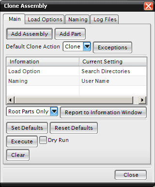 clone assembly dialog in nx cam