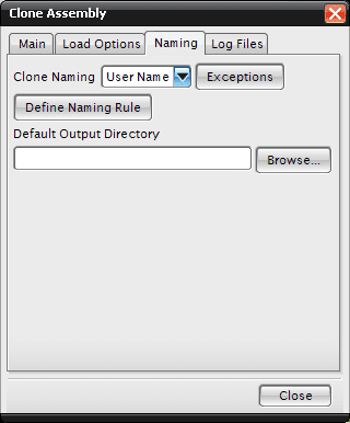 naming tab dialog, clone an assembly in nx cam