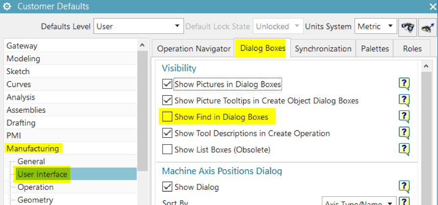 """Adding the NX CAM """"Find"""" Widget to Your Operation Dialogs"""