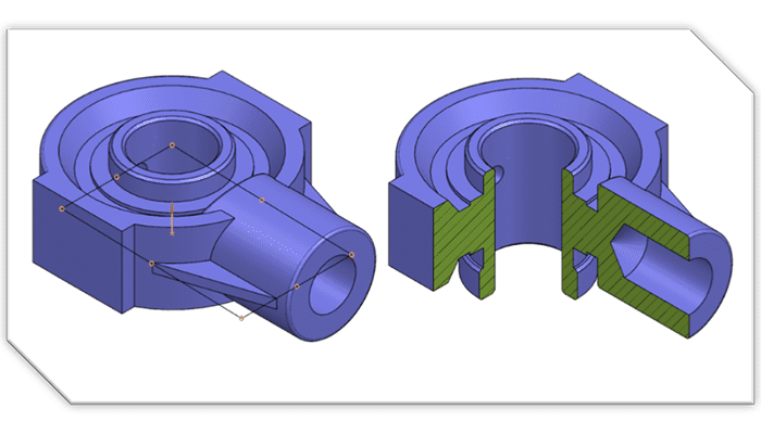 Creating 3D Breakout Section View in NX Drafting