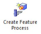 create feature process icon for feature based machining