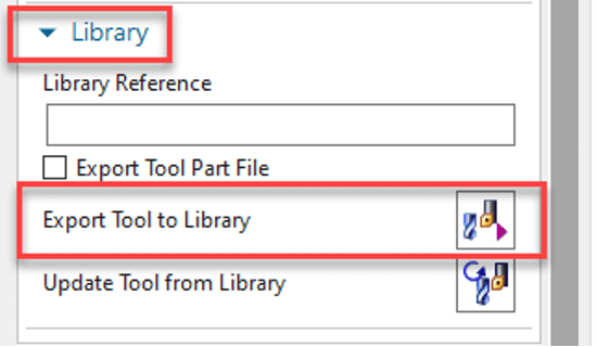 Export Tool to Library