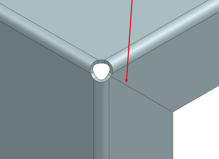 NX Sheet Metal new division between the 2 outward faces