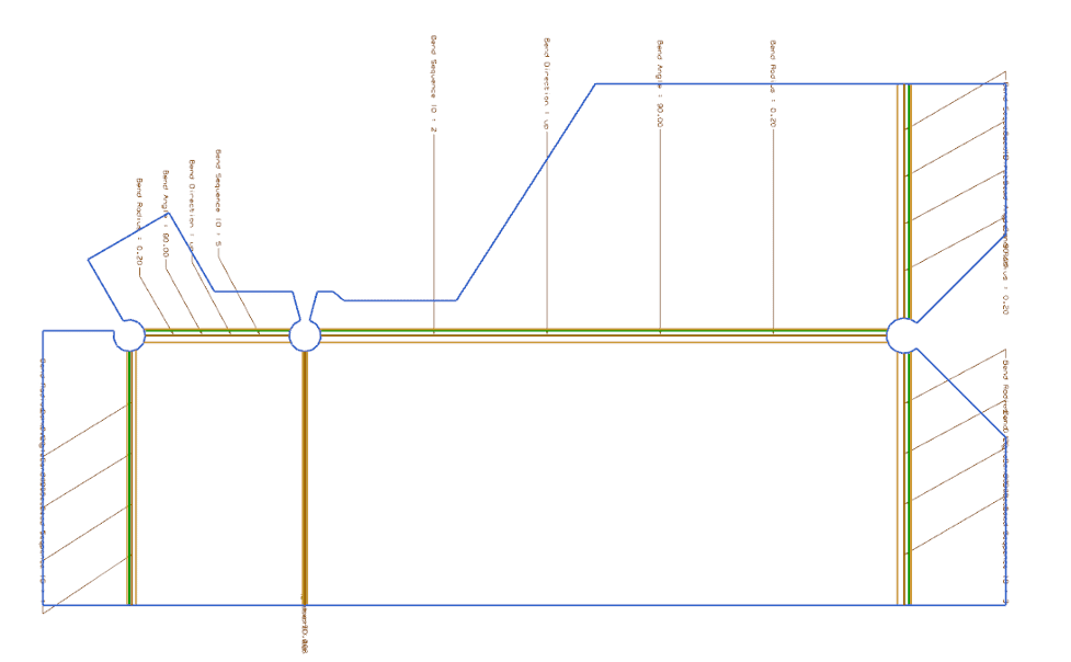 Flat Pattern View of a Component