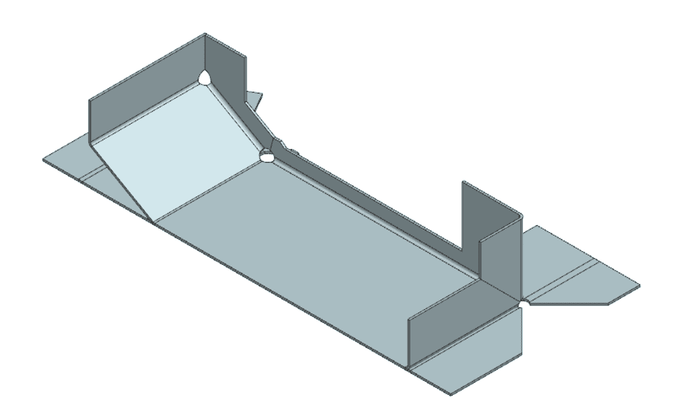 Flat solid feature model view