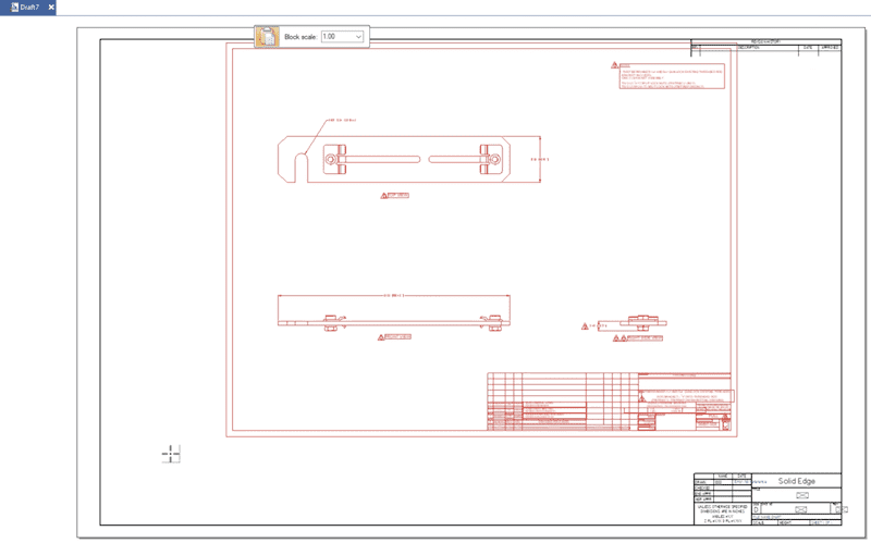 Your DWG file has now been inserted into the CAD sheet