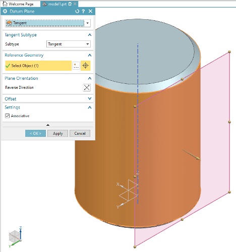 Cylinder for Creating Curved Surface in NX