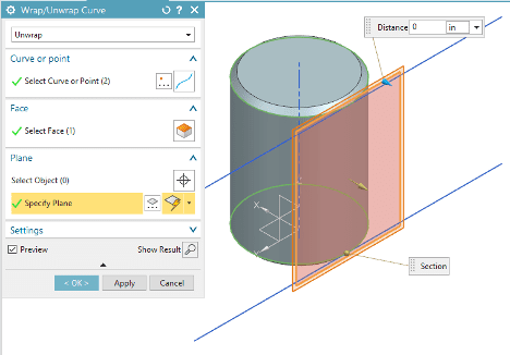 Select Tangent Plane in NX