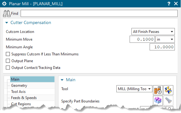 Planar Mill Settings for CAM Templates