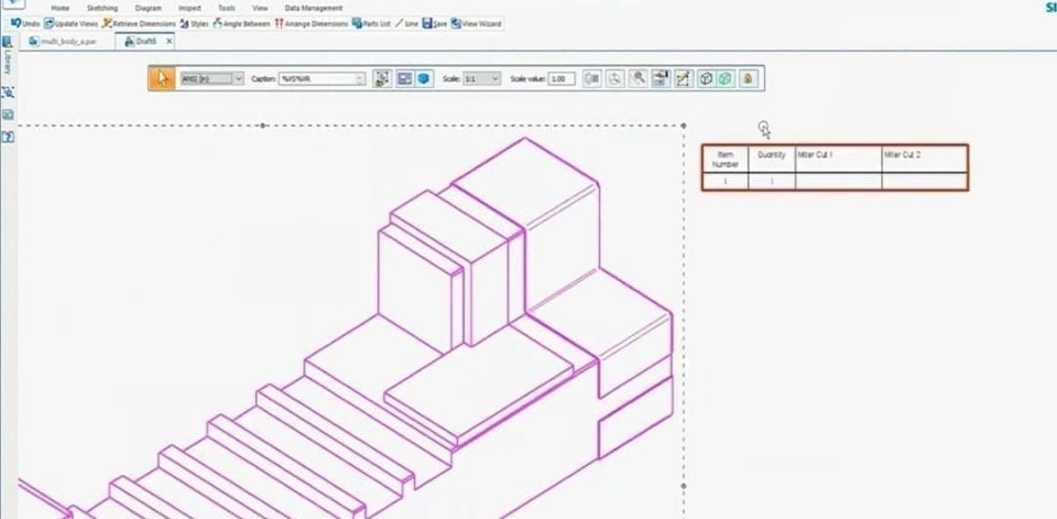 New Drawing Activate Model Solidedge